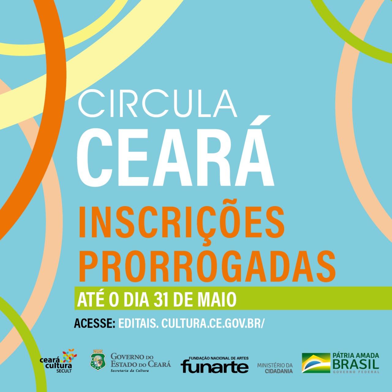 Inscrições prorrogadas Circula Ceará