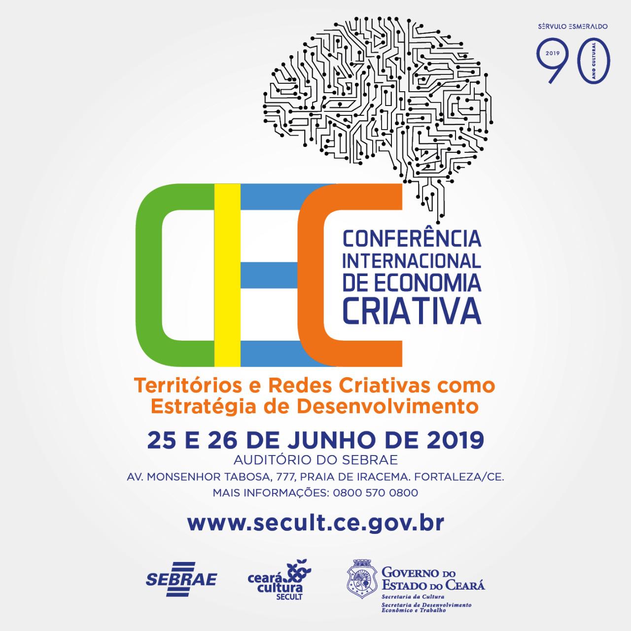 Conferência Internacional de Economia Criativa acontece nos dias 25 e 26 de junho