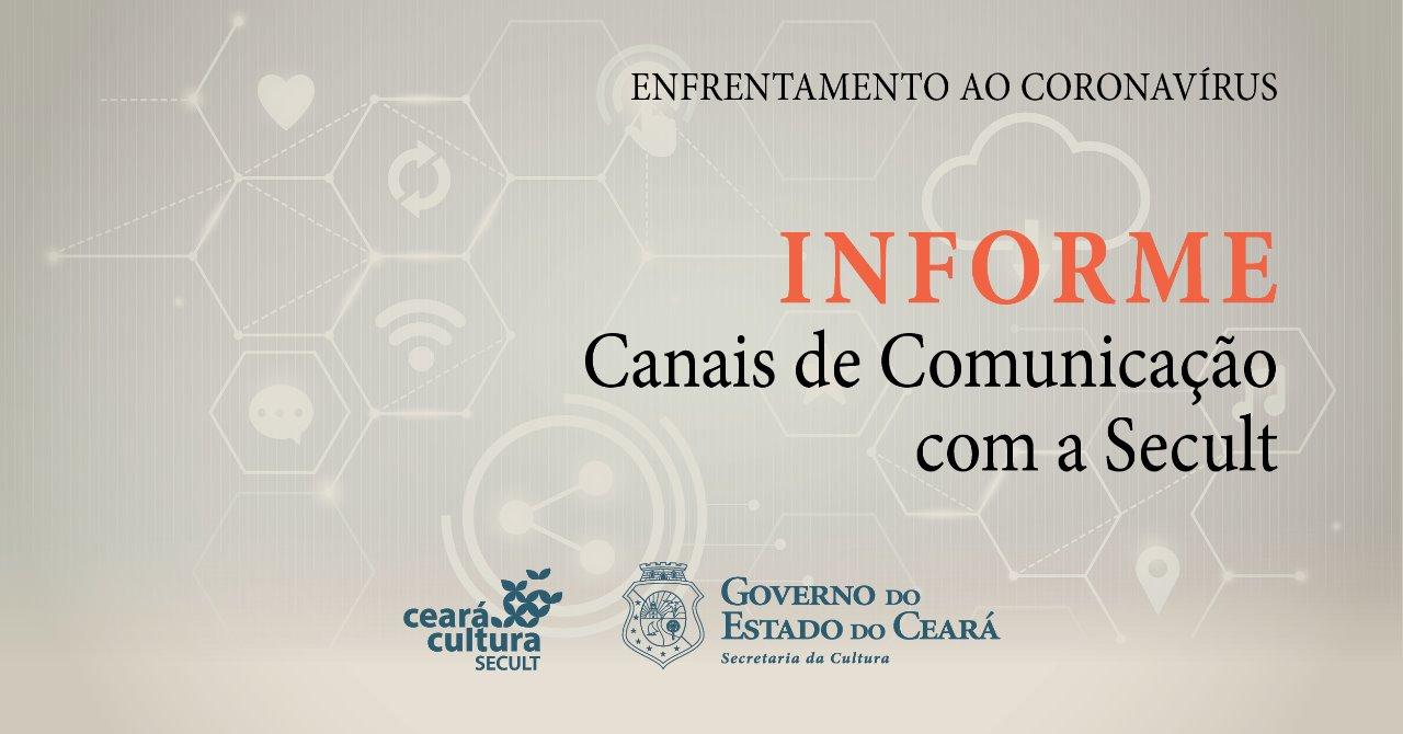 Coronavírus: Secult divulga canais de comunicação e medidas a serem tomadas