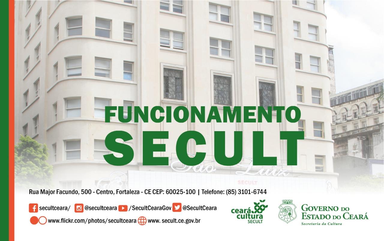 COMUNICADO | Funcionamento Secult