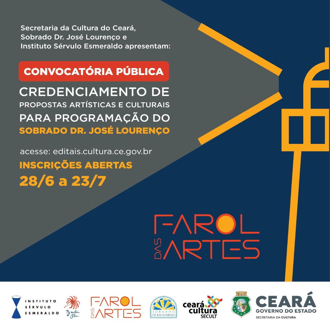 Sobrado Dr. José Lourenço lança nesta segunda (28/6) inscrições para Convocatória Pública de Credenciamento de Propostas Artísticas e Culturais