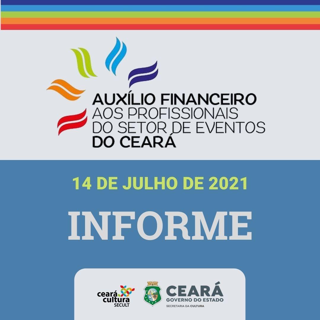 Informe – 14/07 – Auxílio Financeiro aos Trabalhadores e Trabalhadoras do Setor de Eventos