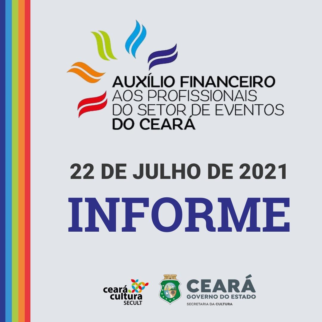 Informe – 22/07 – Auxílio Financeiro aos Trabalhadores e Trabalhadoras do Setor de Eventos