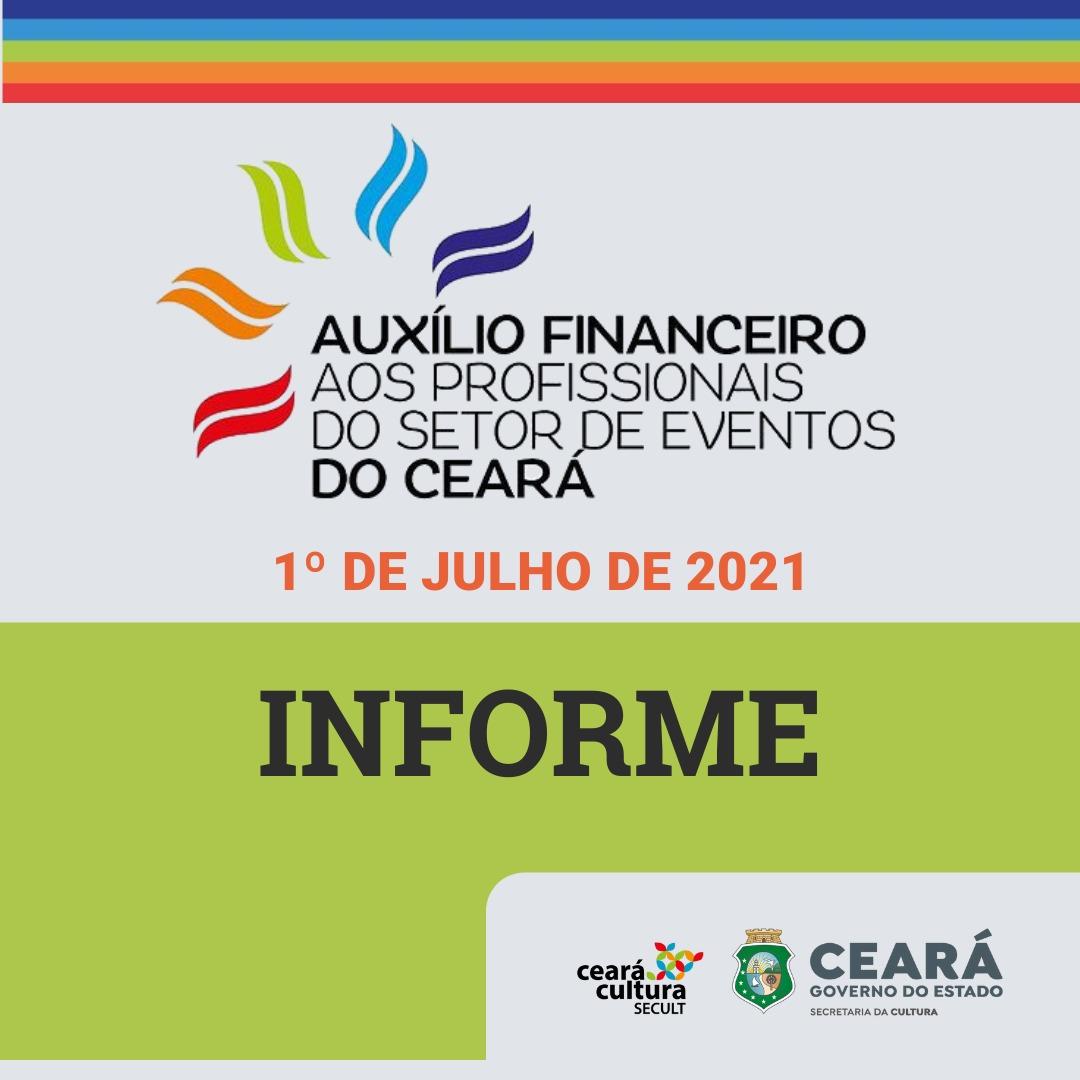 Informe – 01/07 – Auxílio Financeiro aos Trabalhadores e Trabalhadoras do Setor de Eventos