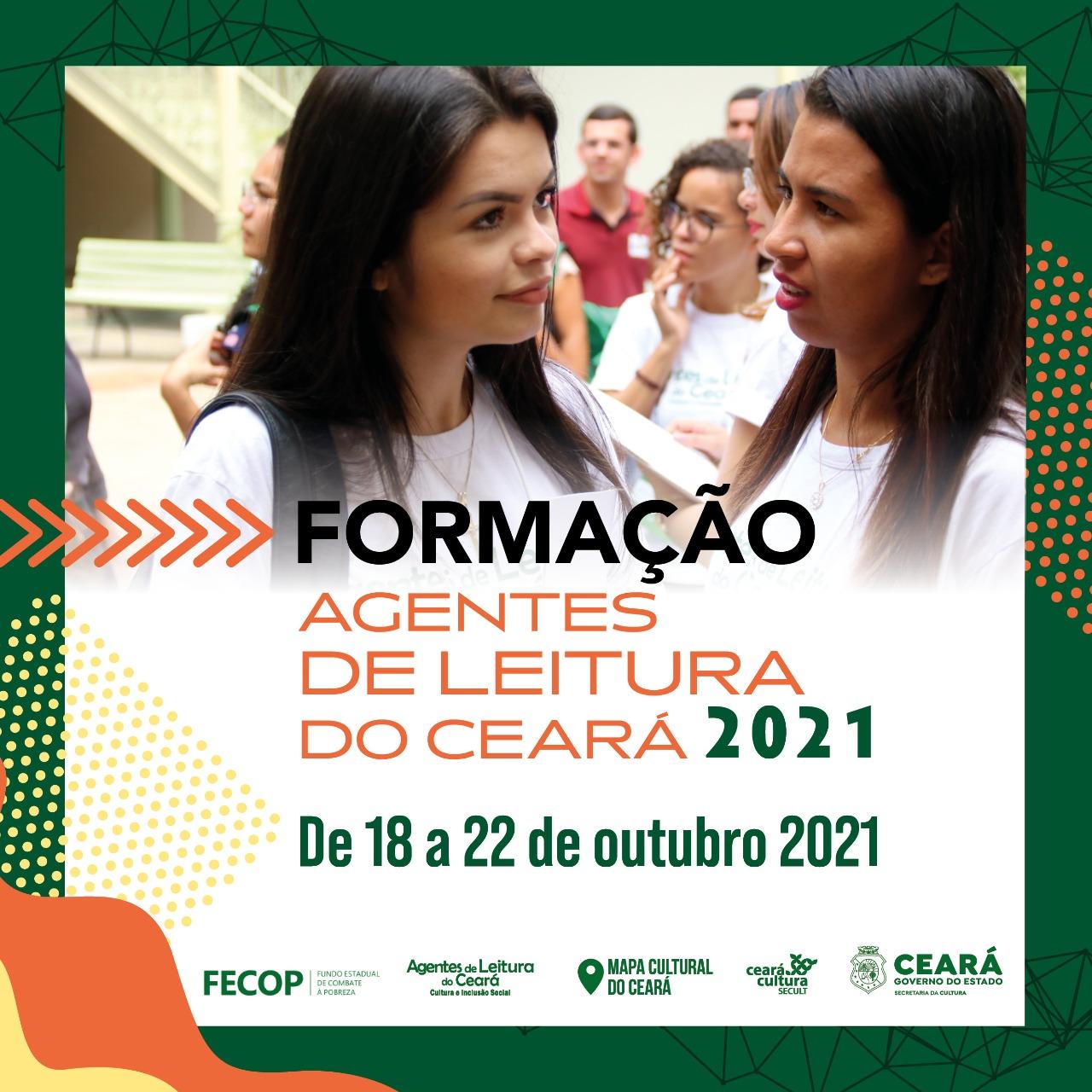 Agentes de Leitura do Ceará 2021: Secult CE promove formação para jovens de 18 a 22/10